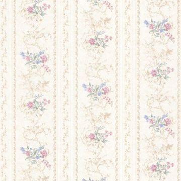 Maury Pink Floral Bouquet Stripe