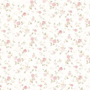 Alex Pink Delicate Satin Floral Trail