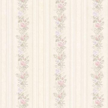 Alexis Pastel Satin Floral Stripe