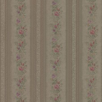 Alexis Olive Satin Floral Stripe