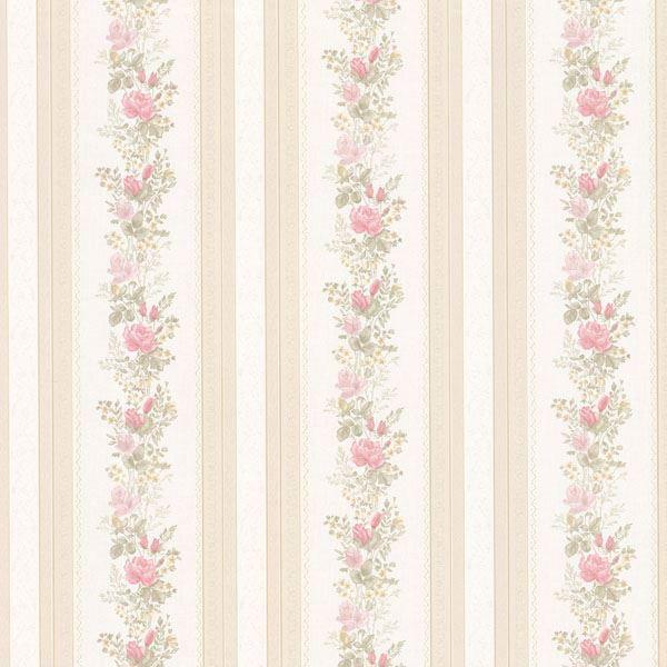 Alexis Pink Satin Floral Stripe