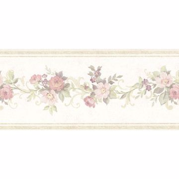 Lory Light Green Floral Border