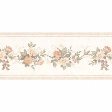Lory Peach Floral Border