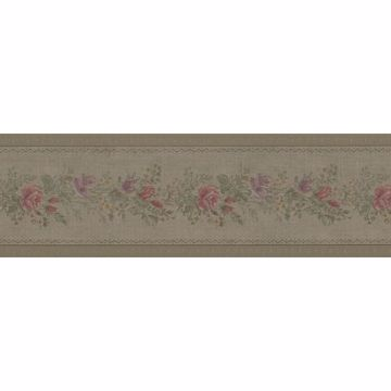 Alexa Olive Floral Meadow Border