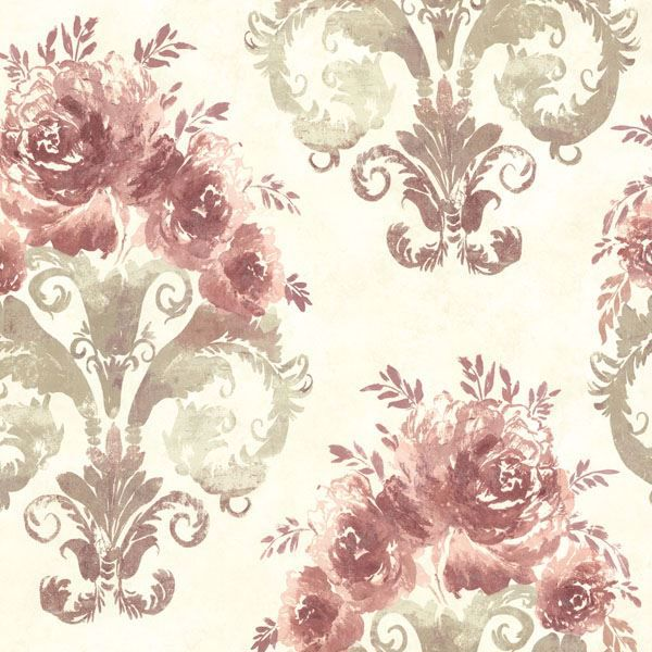 Allana Salmon Scrolling Floral Urn
