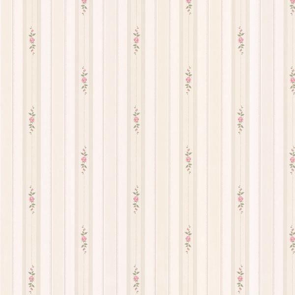 Belle Off-White Rose Stripe