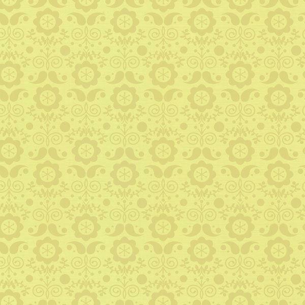 Hansel Yellow Modern Floral