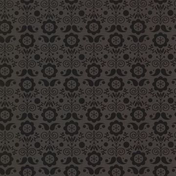 Hansel Black Modern Floral
