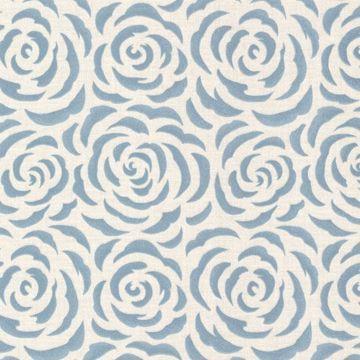 Rosette Aqua Rose Pattern