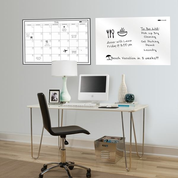 Picture of White Dry Erase Calendar Decal Kit