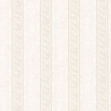 Montague Off-White Scroll Stripe