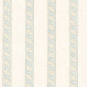 Montague Light Green Scroll Stripe
