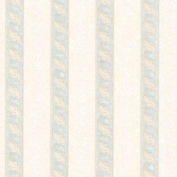 Montague Light Green Scroll Stripe