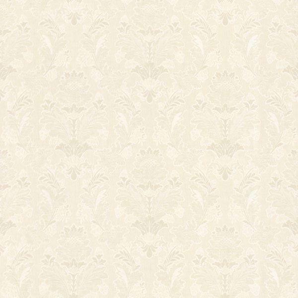 Capulet Ivory Silk Damask