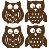 Owl Espresso Wall Decal Silhouettes