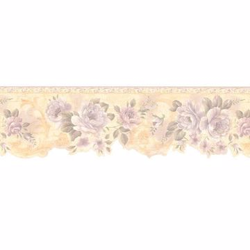 Lavender Flower Scroll Border