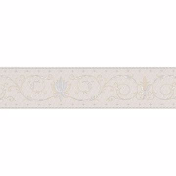 Off-White Fleur-De-Lis Scroll Border