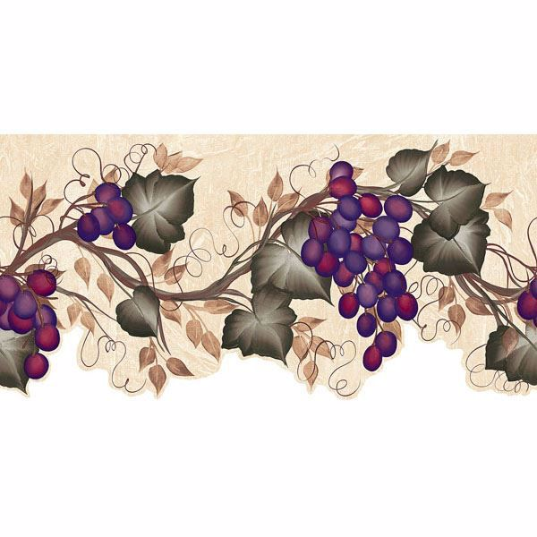 Purple Grape Vine Border