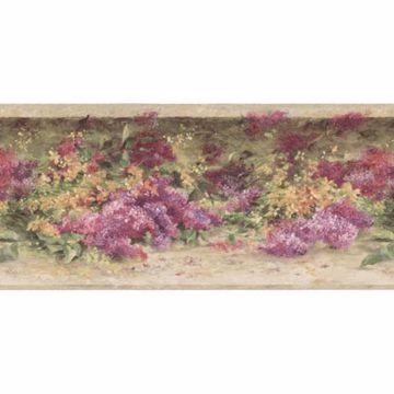 Multicolor Watercolor Floral Garden Border