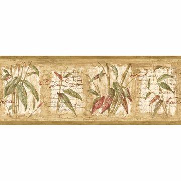 Flax Bamboo Leaf Cameo Border