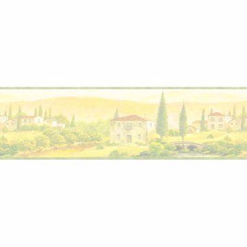 Multicolor Scenic Tuscany Border