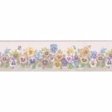 Peach Pansy Trail Border