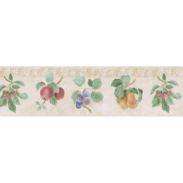 Off-White Fruit Print Border