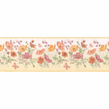 Multicolor Floral Bunches  Border