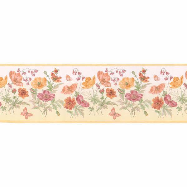 Multicolor Floral Bunches  Border