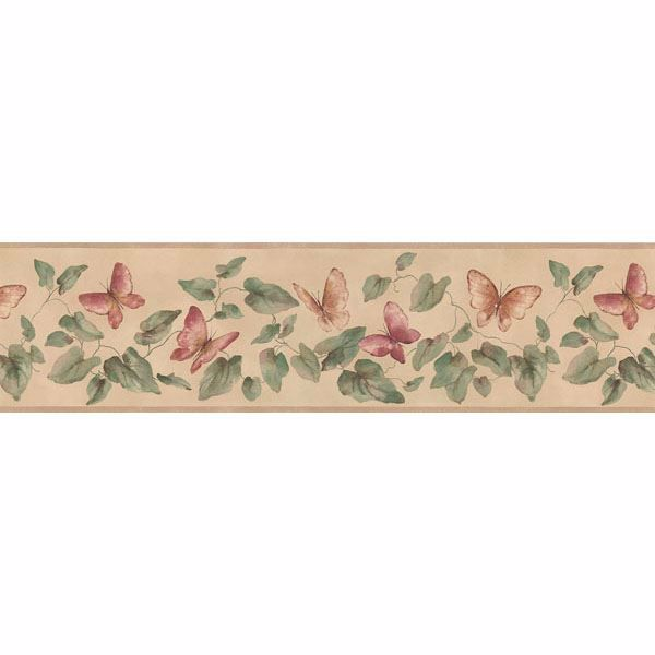 Cream Lily Pad Butterfly Border