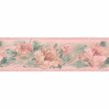 Pink Watercolor Floral   Border