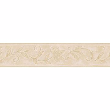Beige Whimsical Tonal Floral Border