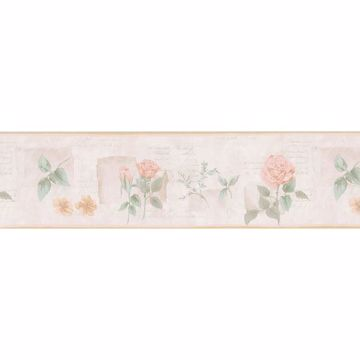 Peach Flower Cameo Border