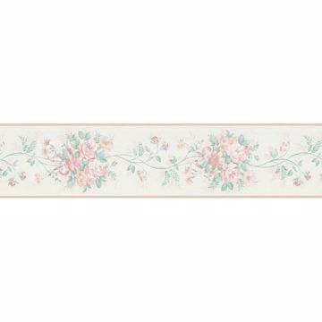 Peach Floral Trail Border