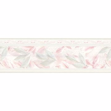 Light Green Lily Scroll Border