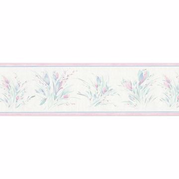 Pink Painted Bouquet Border