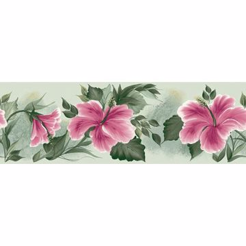 Green Floral Lily Pad   Border