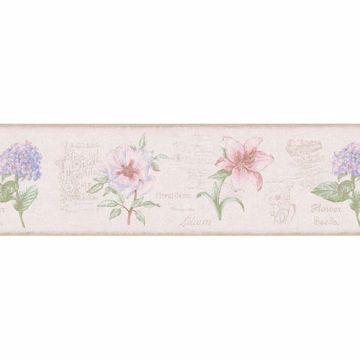 Pink Floral Vintage Advertisement Border