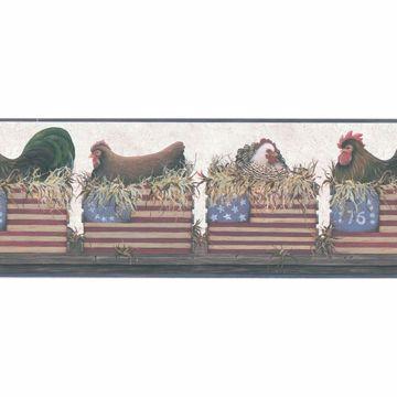 Multicolor Hen American Coop  Border