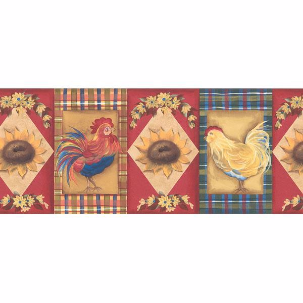 451 1773 Red Country Cameo Tablecloth Brewster Wallpaper Borders