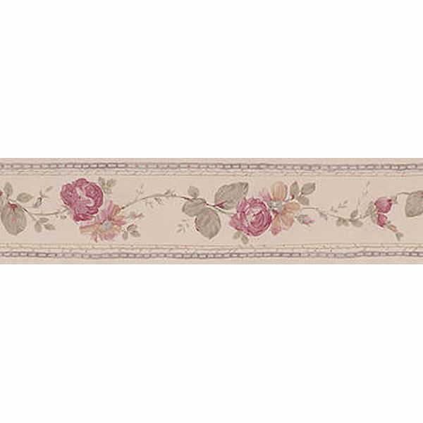 Cream Folk Floral Trail Border