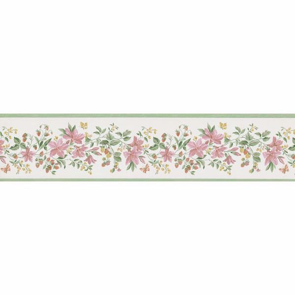 Multicolor Lily And Berry Trail Border