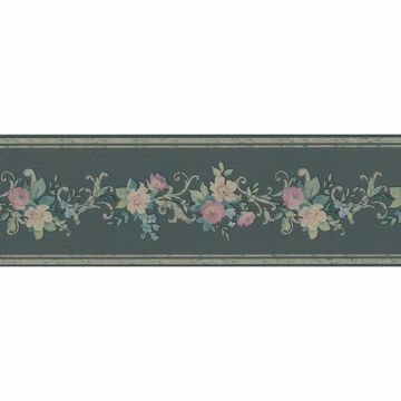 Black Scroll Floral Border