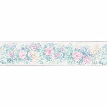 Multicolor Watercolor Floral Border