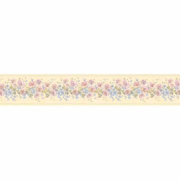 Yellow Bloomed Floral Trail Border