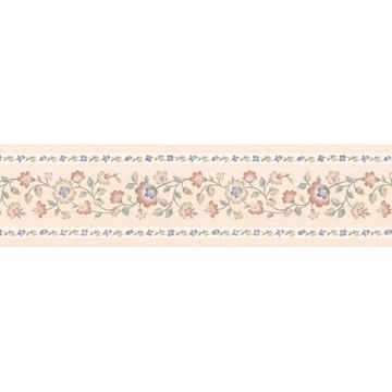 Peach Petit Folk Jacobean Trail Border