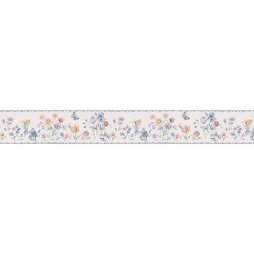 Light Blue Dainty Floral Border