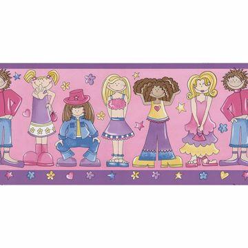 Pink Bop Girls Border