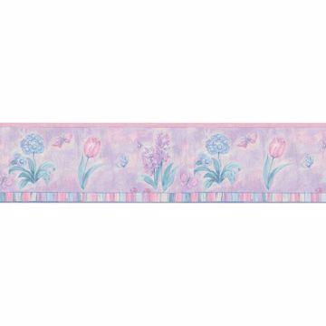 Pink Pastel Floral Border