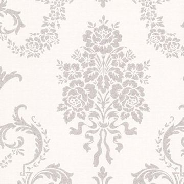 Chambers Platinum Floral Damask